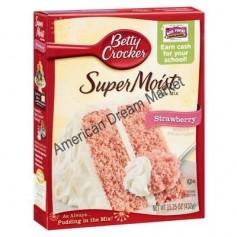 Betty Crocker super moist cake mix strawberry