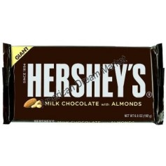 Hershey giant milk chocolate with almond