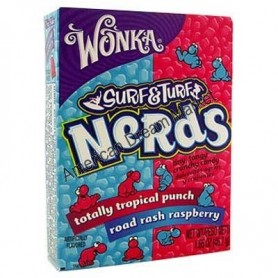 Wonka nerds mini bonbons framboise tropical