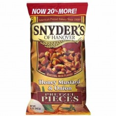 Snyder's of hanover pretzel pieces honey mustard and onion GM