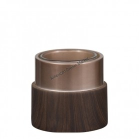 Photophore rond wood and copper