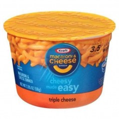 Kraft macaroni and cheese cup trois fromages