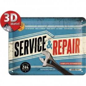 Plaque service en repair 3D