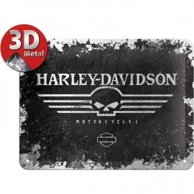 Plaque harley davidson motorcycles 3D