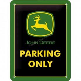 Plaque john deere parking 3D