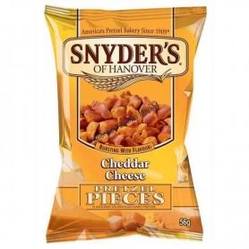 Snyder's of hanover pretzel pieces cheddar cheese mini