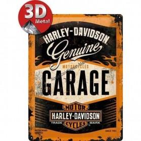 Plaque genuine garage harley 3D MM