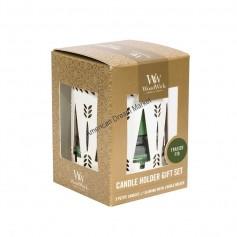 WoodWick set photophore et petite candle frasier fir