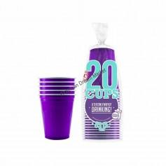 20 Gobelets violet 53cl