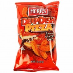 Herr's deepdish pizzan cheese curls