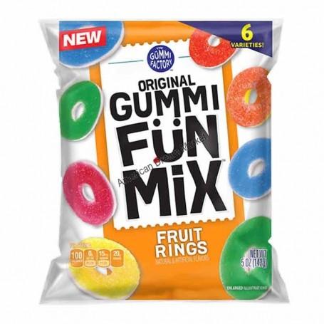 Gummi fun mix fruit rings
