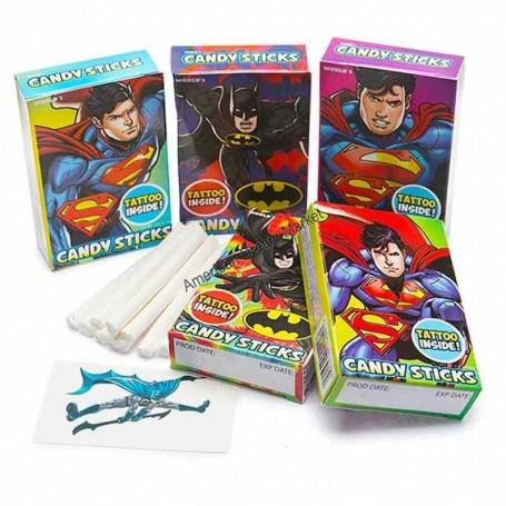 World batman and superman candy stick