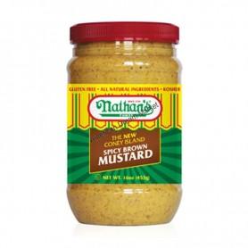 Nathan's spicy brown mustard (pot)