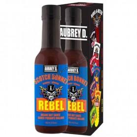 Aubrey D rebel scotch bonnet hot sauce