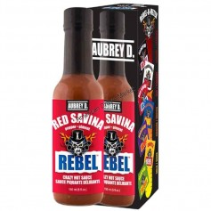 Aubrey D rebel red savina hot sauce