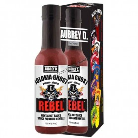 Aubrey D rebel jolokia ghost hot sauce