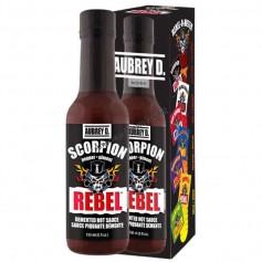 Aubrey D rebel scorpion hot sauce