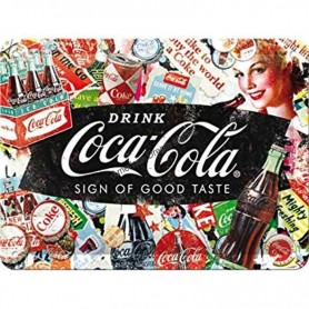 Plaque drink coca cola sign of good taste