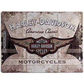 Plaque harley davidson motorcycle