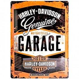 Plaque harley davidson garage