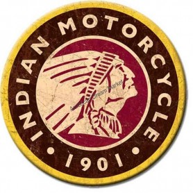 Magnet indian logo round