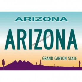 Magnet arizona license plate