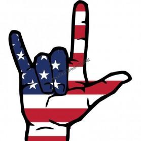 Sticker US i love you hand
