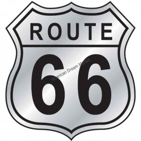 Sticker route 66 shield