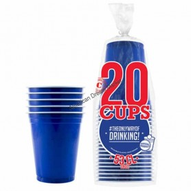 20 Gobelets Bleus 53cl