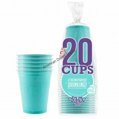20 Gobelets turquoises 53cl
