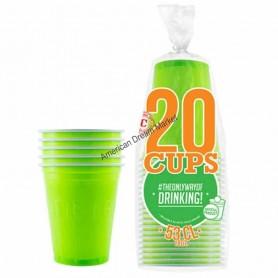 20 Gobelets Verts 53cl