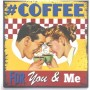 Magnet vintage coffee for you and me