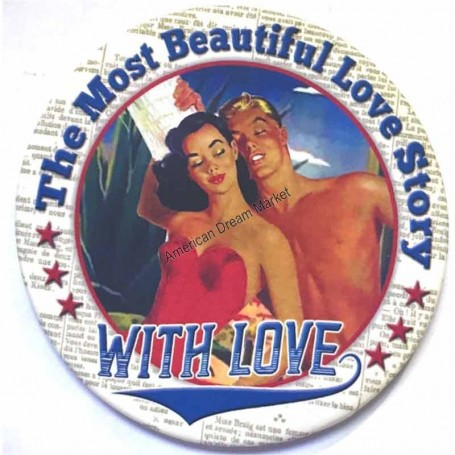 Magnet vintage the most beautiful love story