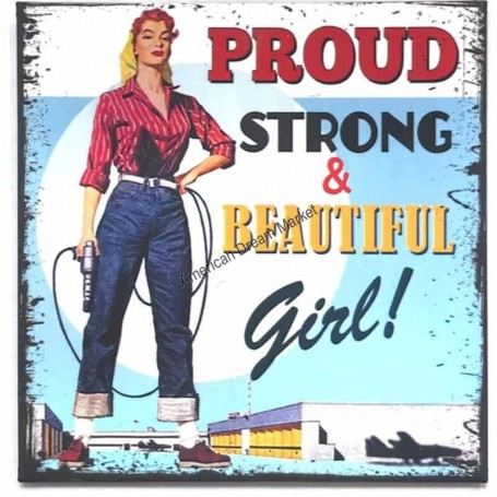 Magnet vintage proud strong and beautiful girl