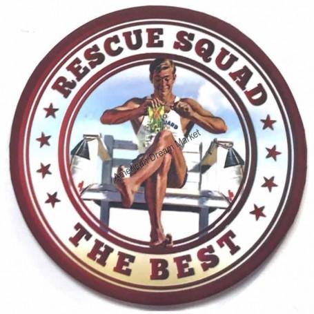 Magnet vintage rescue squad
