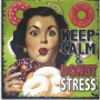 Magnet vintage keep calm and donut stress
