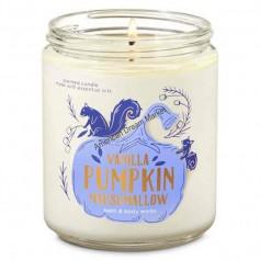 BBW bougie 1 mèche vanilla pumpkin marshmallow