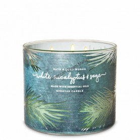 BBW bougie white eucalyptus and sage