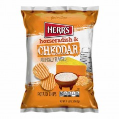 Herr's horseradish and cheddar chips