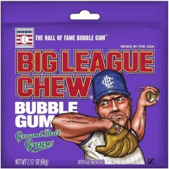 Big league baseball bubble gum grape
