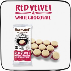 Hand off my chocolate - red velvet and white choc