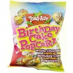 Toad-ally birthday cake popcorn