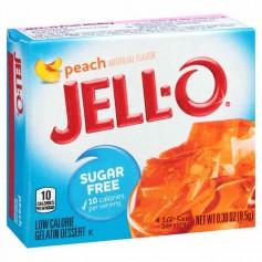 Jell-o peach sugar free
