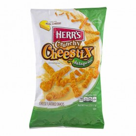 Herr's crunchy cheestix jalapeño
