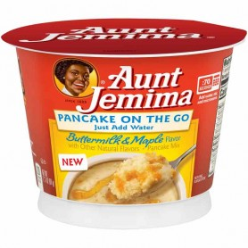 Aunt jemima pancake on the go buttermilk and maple