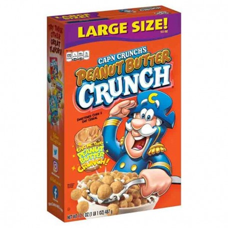 Cap'n crunch's peanut butter large size