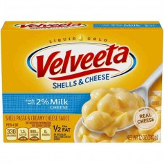 Velveeta shells and cheese 2% milk