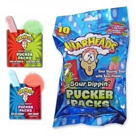Warheads sour dippin' pucker packs