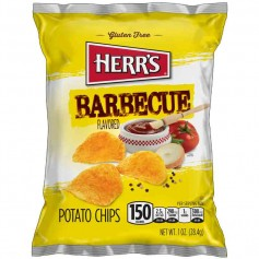 Herr's barbecue potato chips 28G