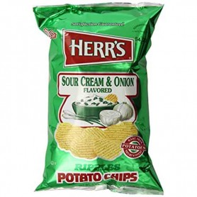 Herr's sour cream and onion chips GM